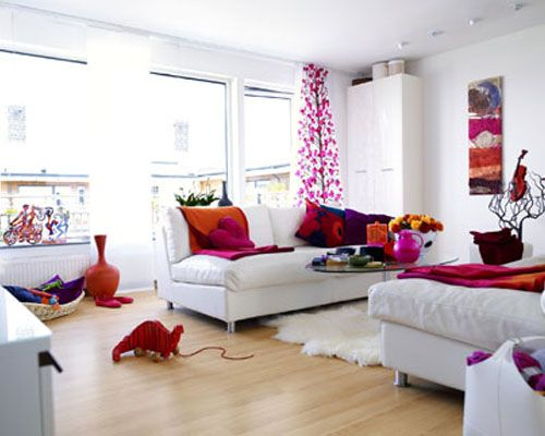Simple And White Colorful Living Room Design Ideas Colorful Living Room Design Stylish Living Room Pink Living Room