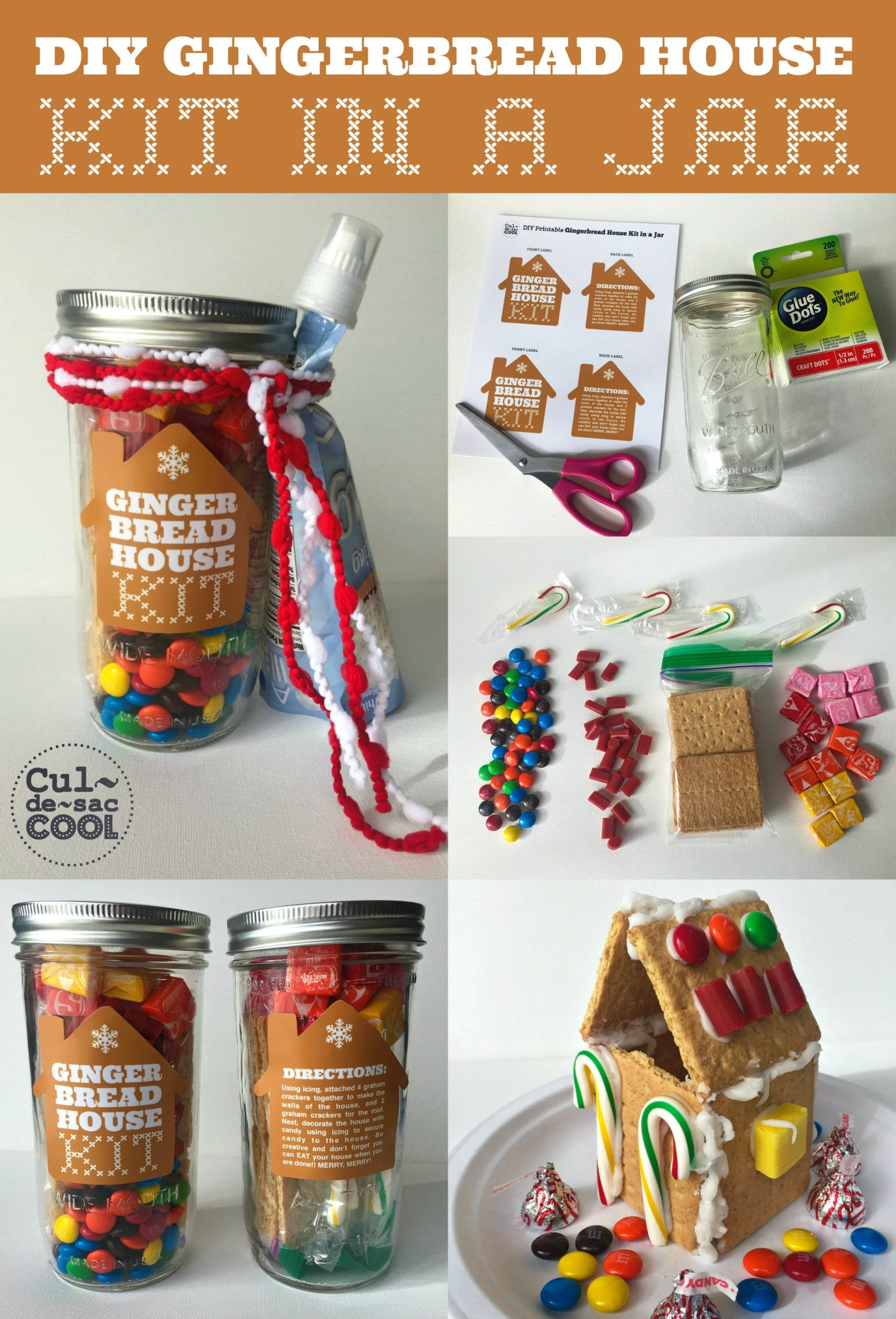 Diy gingerbread house kit in a jar bake sale pinterest diy gingerbread house kit in a jar solutioingenieria Choice Image