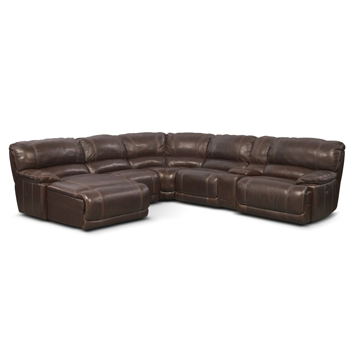 HTL Furniture 2678CS Reclining Leather Sectional Sofa den