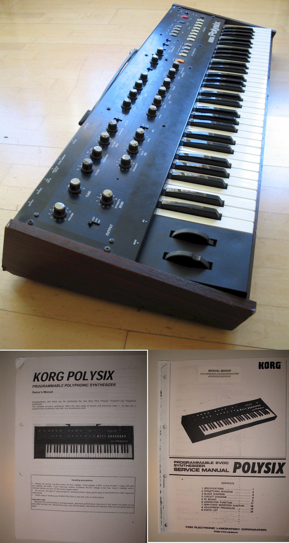 Korg Polysix | Vintage Synthesizer in 2019 | Drum machine, Recording