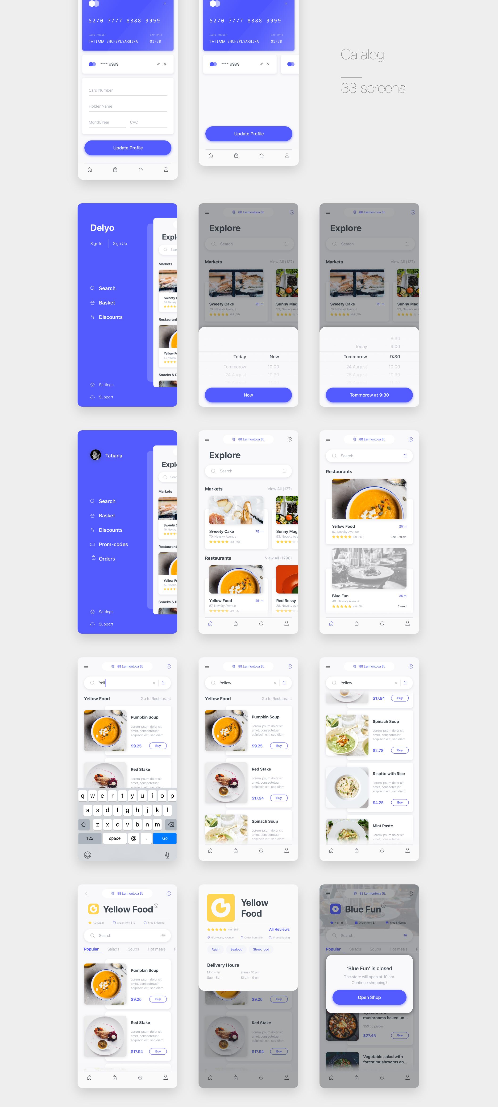 Delyo UI Kit   Food Delivery App on Behance   APP   Delivery