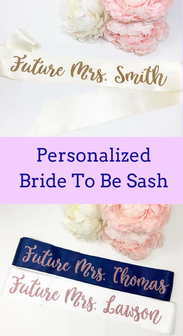 personalized bride to be sash future mrs sash bachelorette sash bachelorette party bridal shower bride to be sm
