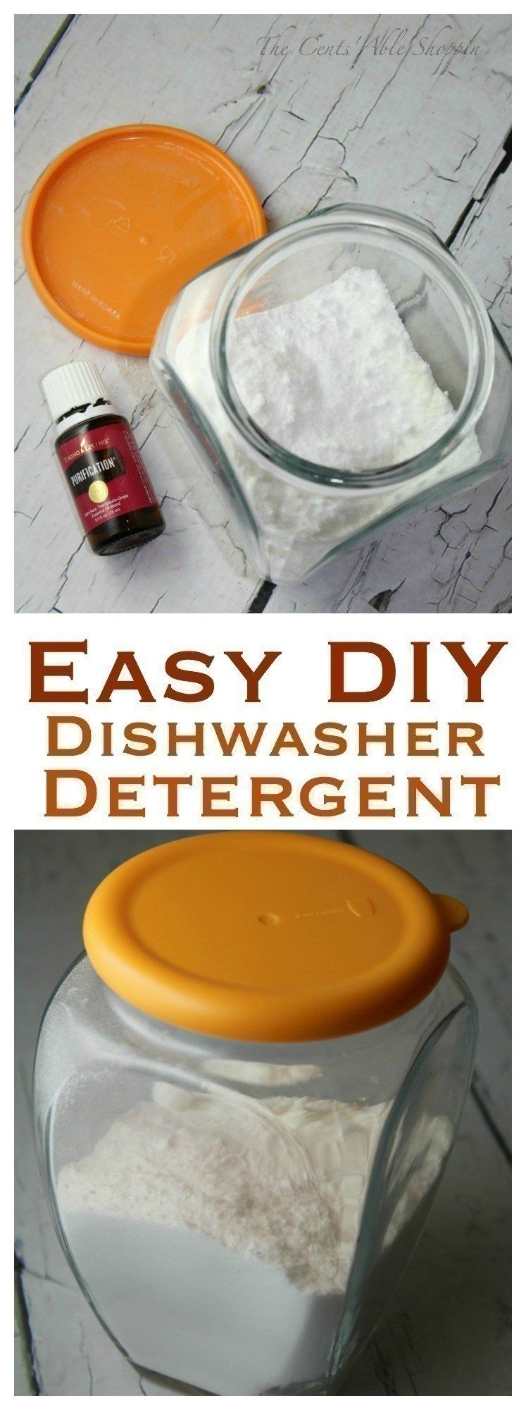 Easy Diy Homemade Dishwasher Detergent Green Cleaning