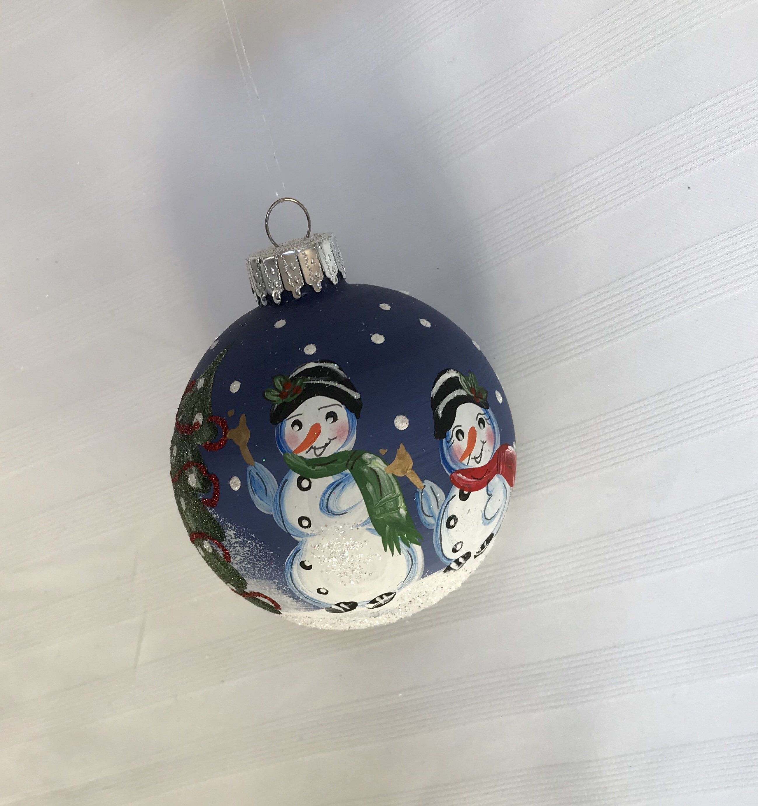 Hand Painted Snowman Christmas Ornament Christmas Gift Etsy Hand Painted Ornaments Snowman Christmas Ornaments Handpainted Christmas Ornaments