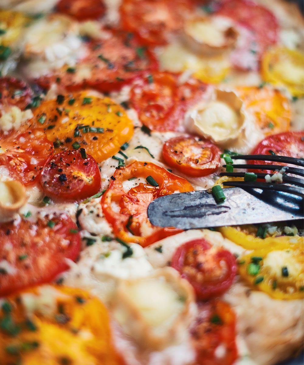 Recettes Tartes Salees Marmiton: Tarte Aux Tomates Du Jardin Avec Fromage De Chèvre