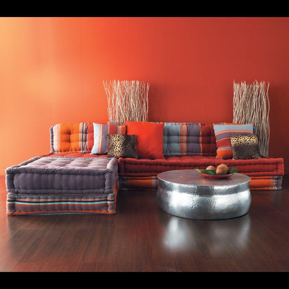 Home interior angles banquette duangle  places en coton multicolore  banquettes living