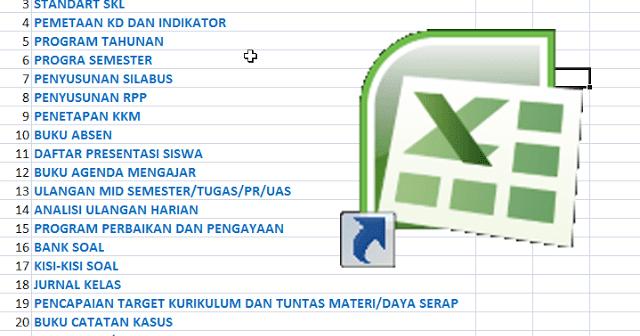 24 Berkas Administrasi Guru Dalam 1 File Excel Berkas Sekolah Sekolah Pendidikan Aplikasi