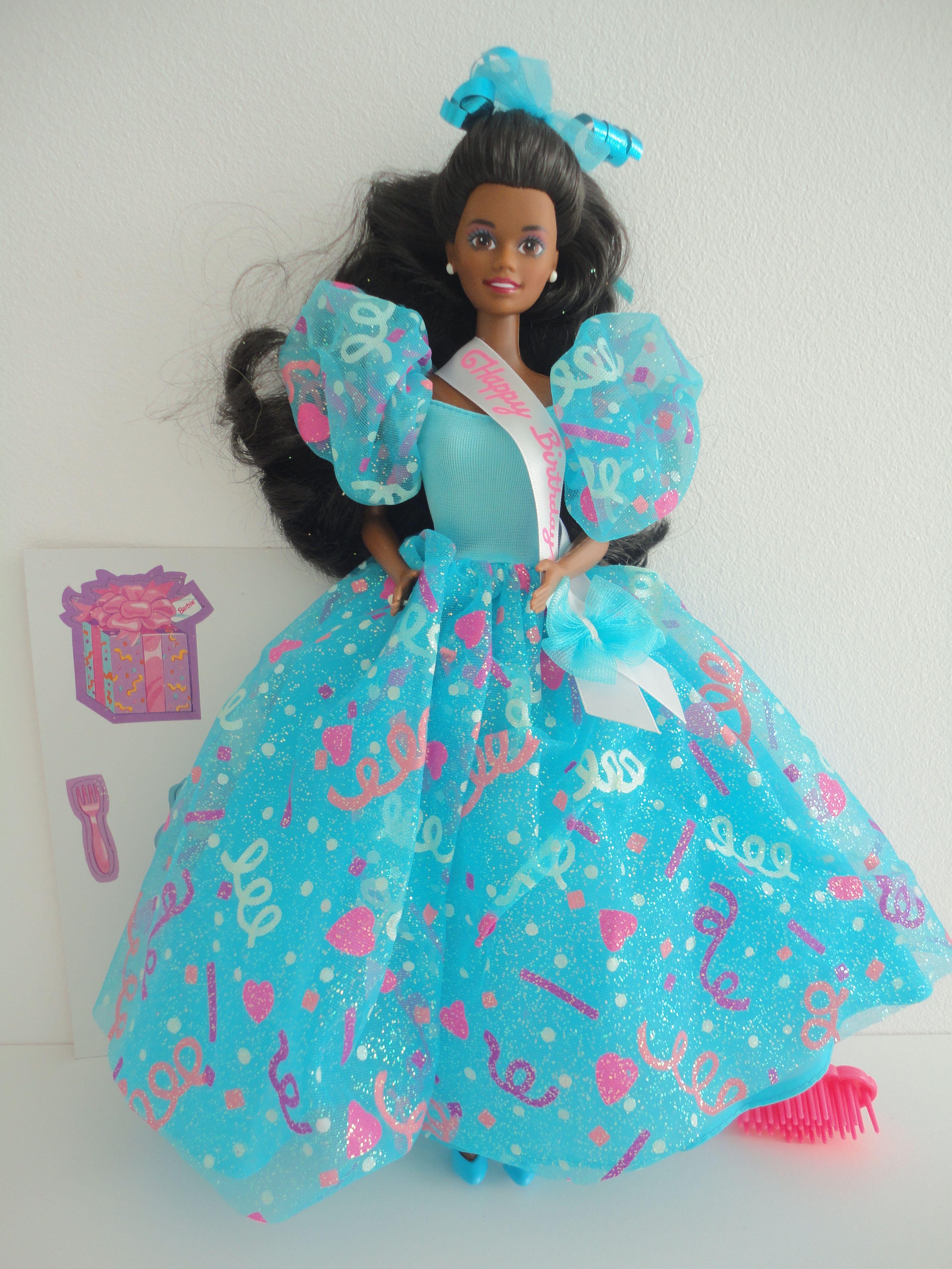 Barbie birthday barbie aa bd1993 11334 in 2020 barbie