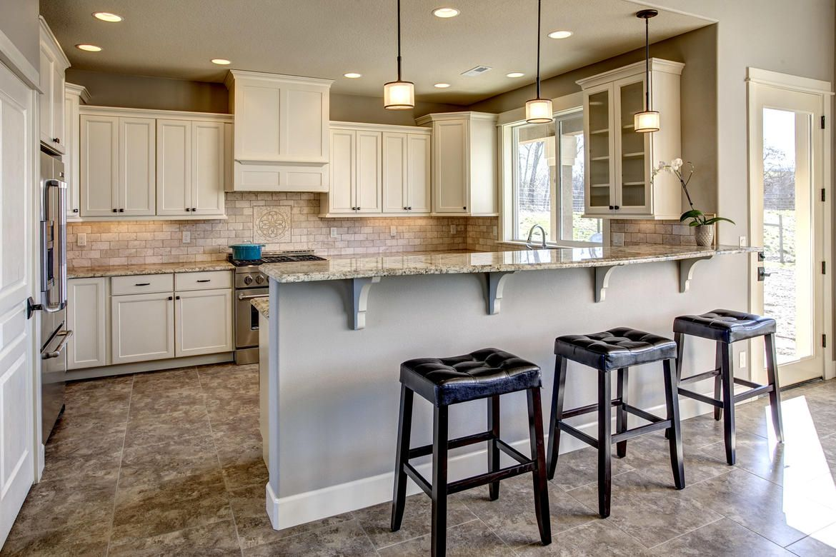 kitchen with nook bar stools beautiful floors white cabinets stainless steal appliances on kitchen nook id=62048
