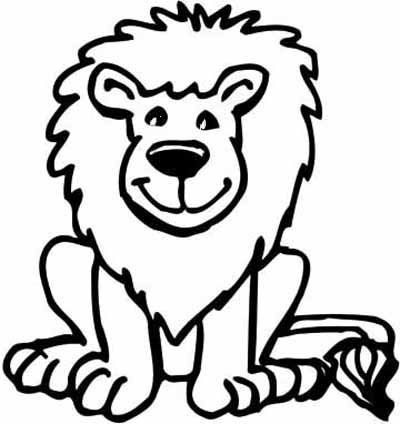 may use this for the lion stick puppet daniel the lions den better - Small Coloring Pages