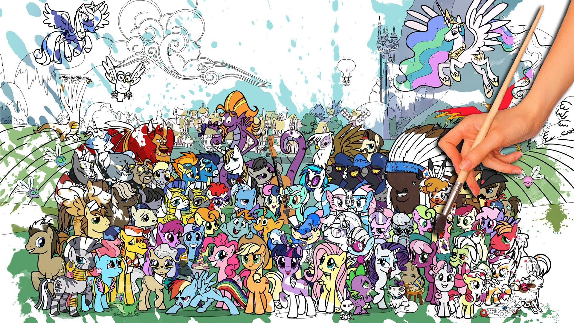 biggest my little pony coloring page ever 💖 friendship is