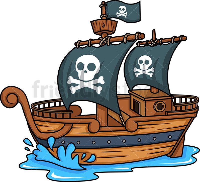 Side View Of A Pirate Ship S Izobrazheniyami Piraty Igrovoj