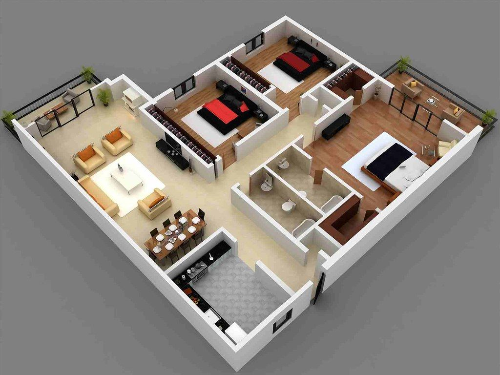Small House Design 8d 8 Bedrooms Small House Design Small House Plans Three Bedroom House Plan