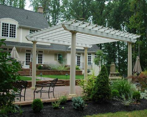 We're thinking about building a pergola over our front door because it  faces west and gets so hot. - We're Thinking About Building A Pergola Over Our Front Door Because