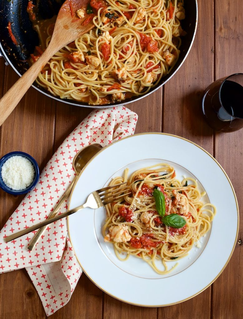 Blistered Tomato and Lobster Pasta Recipe   Recipes ...