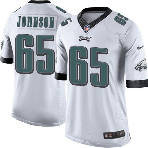 b045d57d6f3 Nike Limited Lane Johnson White Youth Jersey - Philadelphia Eagles #65 NFL  Road