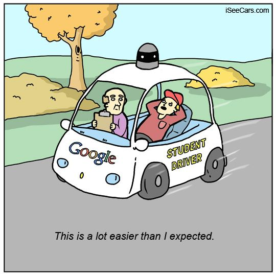 Self-driving Cars Cartoons and Comics - funny pictures ...   Self Driving Car Jokes