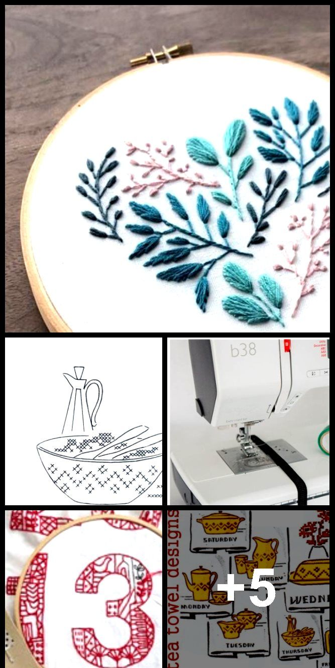 Floral Leaf Heart  Modern Embroidery Pattern PDF Digital Download  Floral Leaf Heart  Modern Embroidery Pattern PDF Digital Download