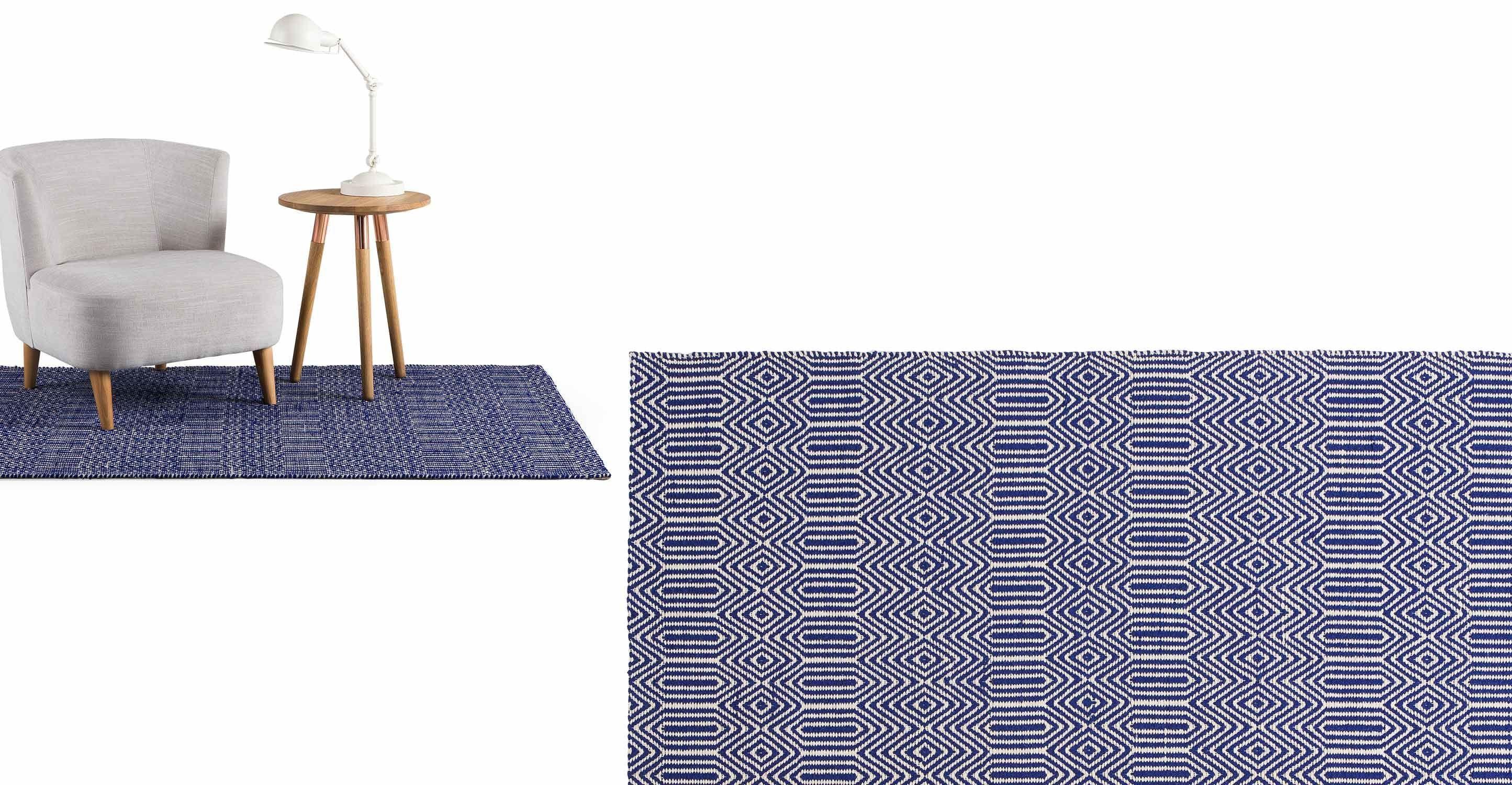 Badezimmerteppich Weiß ~ Ryker teppich 160 x 230 cm blau und weiß blau und weiß