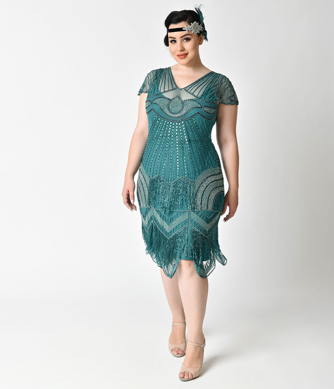 Shop 1920s Plus Size Dresses And Costumes 1920s Style Flappers