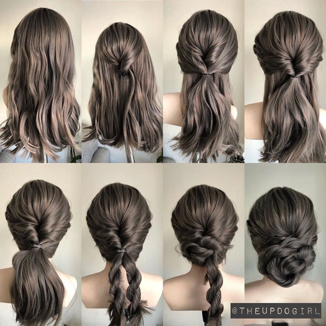 Step By Step Updo Hair Tutorial Hair Styles Long Hair Styles Simple Wedding Hairstyles