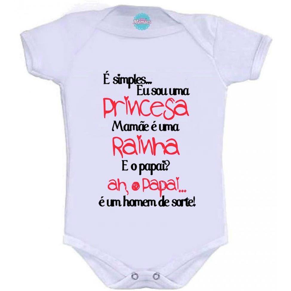 Body Bebê Entre Mamães O Papai É Um Homem De Sorte Branco  0d3e606bcf11