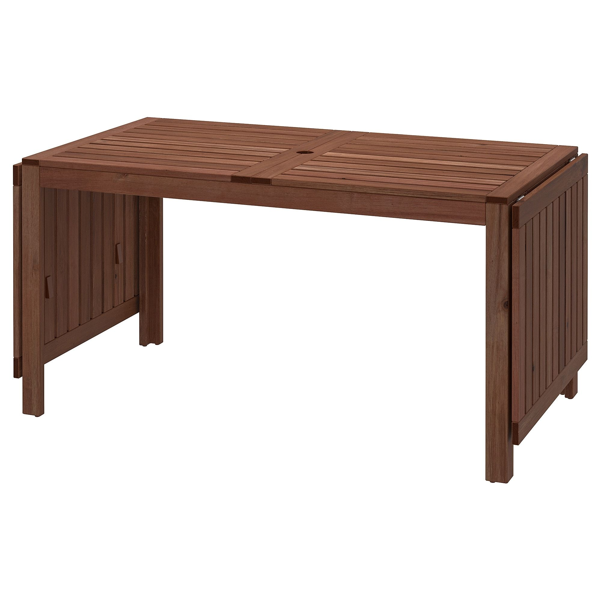 Applaro Drop Leaf Table Outdoor Brown Stained Brown 55 1 8 78 3