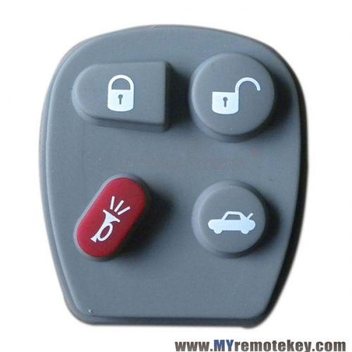 Remote Rubber Button Pad For Gm Remote Fob 4 Button Fobs Remote
