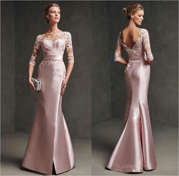 Платье из шёлка и кружева