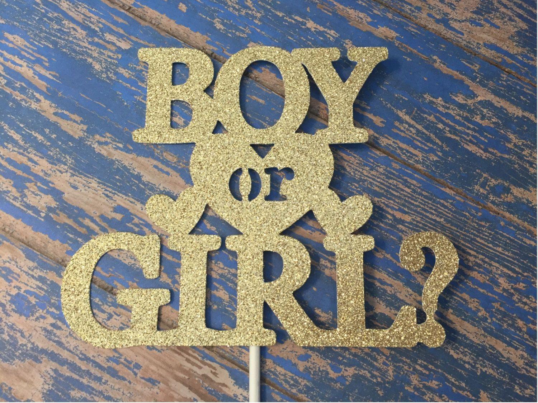 Gender Reveal Cake Topper Boy Or Girl Cake Topper Baby Shower Cake Topper Gold Gender Reveal Cake Topper Gold Cake Topper Gender Reveal Cake Topper Baby Shower Cake Topper Gender Reveal