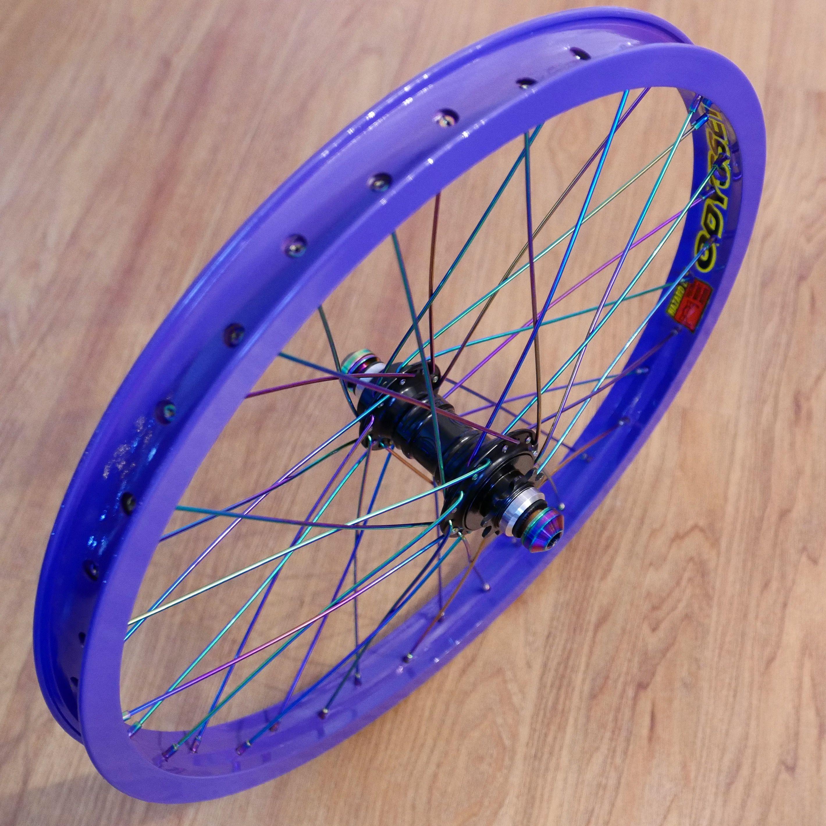 Colony Wasp Rainbow Hubset And Spokes Bmx Bikes Bmx Paint Bike