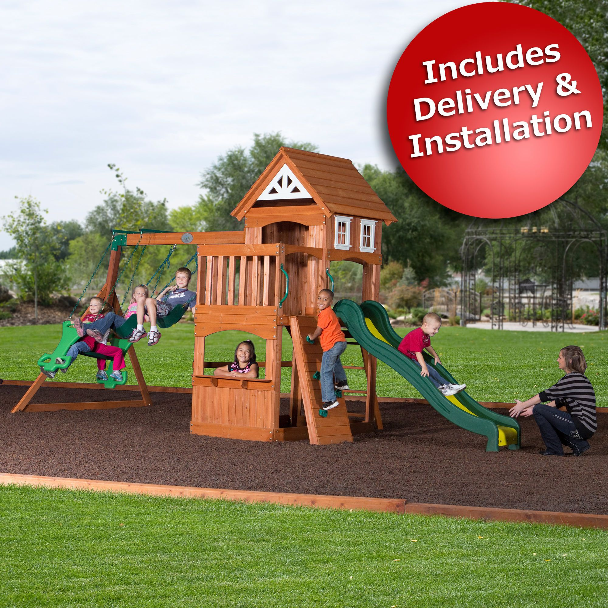 Adventure Playsets Scout Swing Set With Bonus 2 Person Glider
