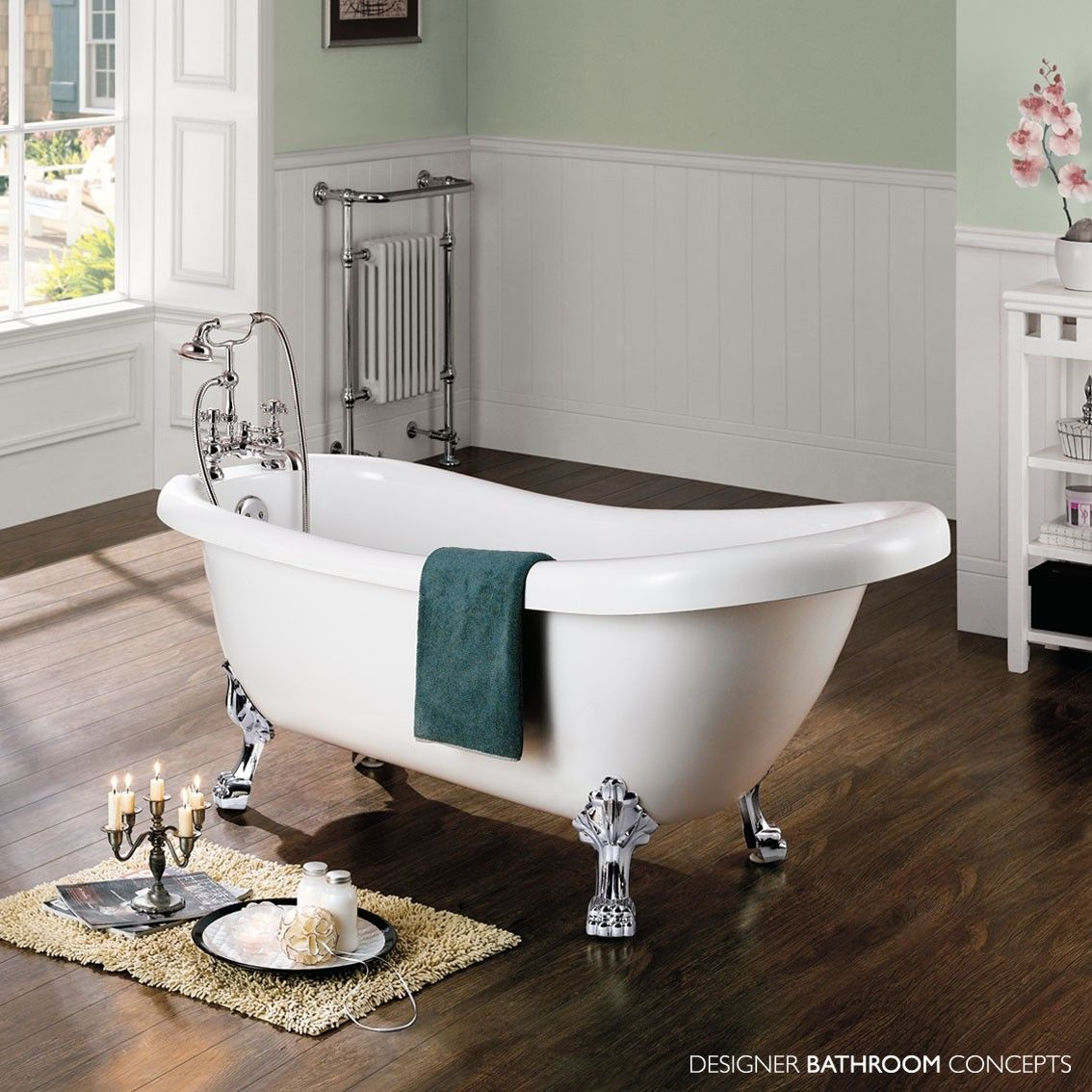 Windsor Designer Traditional Freestanding Roll Top Bath | Roll top ...