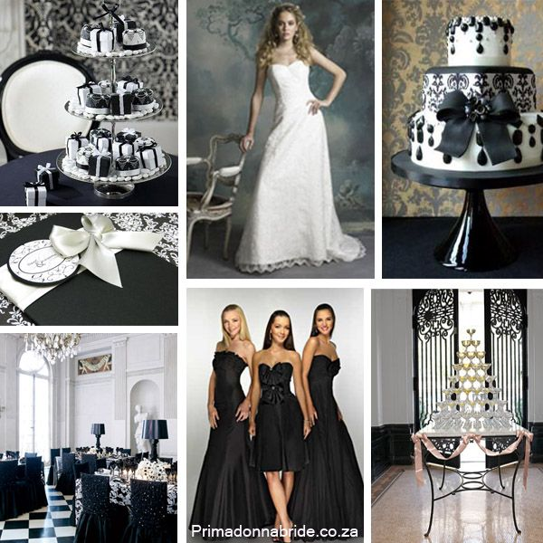 Black And White Wedding...top Left Picture Maybe Gifts For