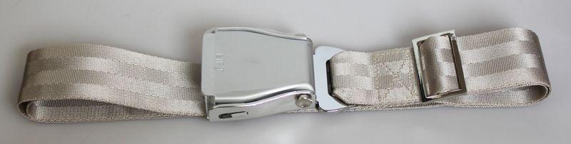 Flugzeuggürtel airline seatbelt champagne-silver    Lifestyleprodukt mit Urlaubsflair!    Flugzeug-Gürtel aus Nylon mit sehr hochwertiger Metallschnal