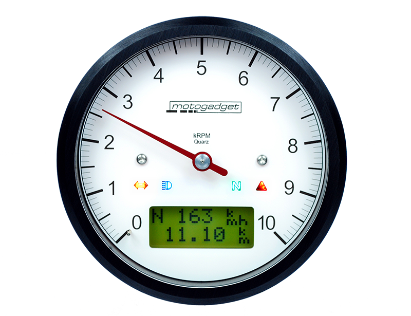 The Motogadget Product Family Analog Gauges Digital