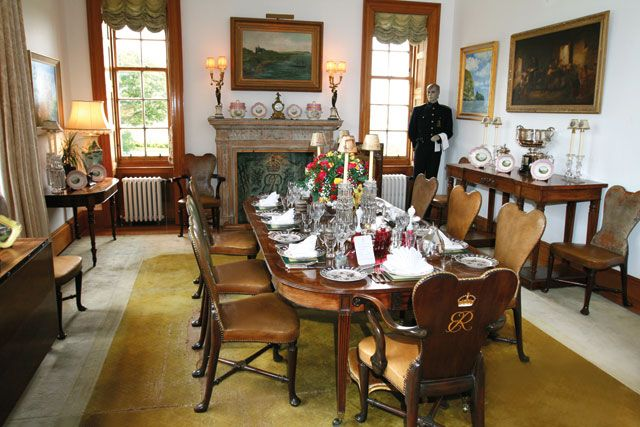 Castle Of Mey The Dining Room In The Home Of Queen Elizabeth The Queen Mother Queen