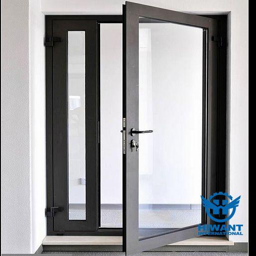 Black color powder coating aluminium profile windows and doors ...