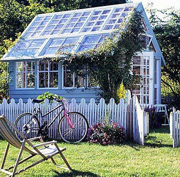 Could be a combination greenhouse and garden shed Greenhouse