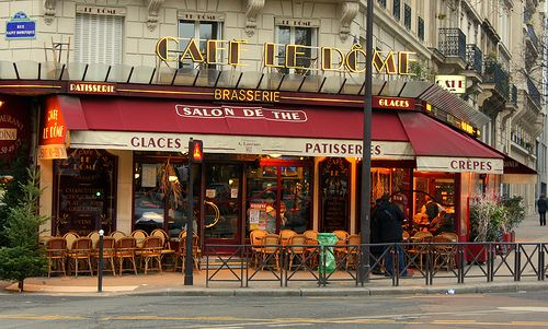 My favorite Parisian cafe: Cafe le Dome, in modern days.