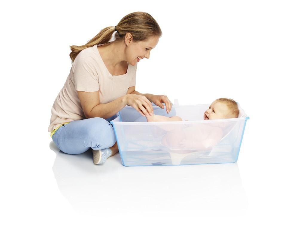 Stokke Flexi Bath Newborn Support for Foldable Baby Bath Tub White