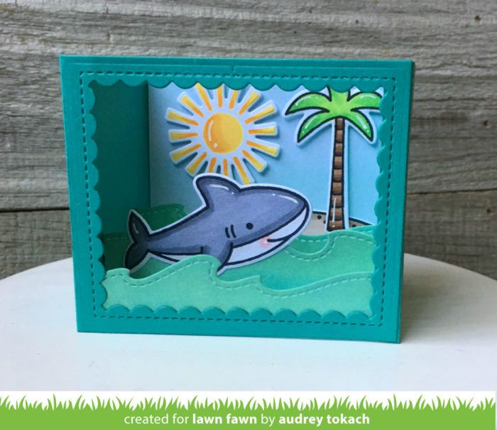 Lawn Fawn Shadow Box Card Ocean에 대한 이미지 검색결과