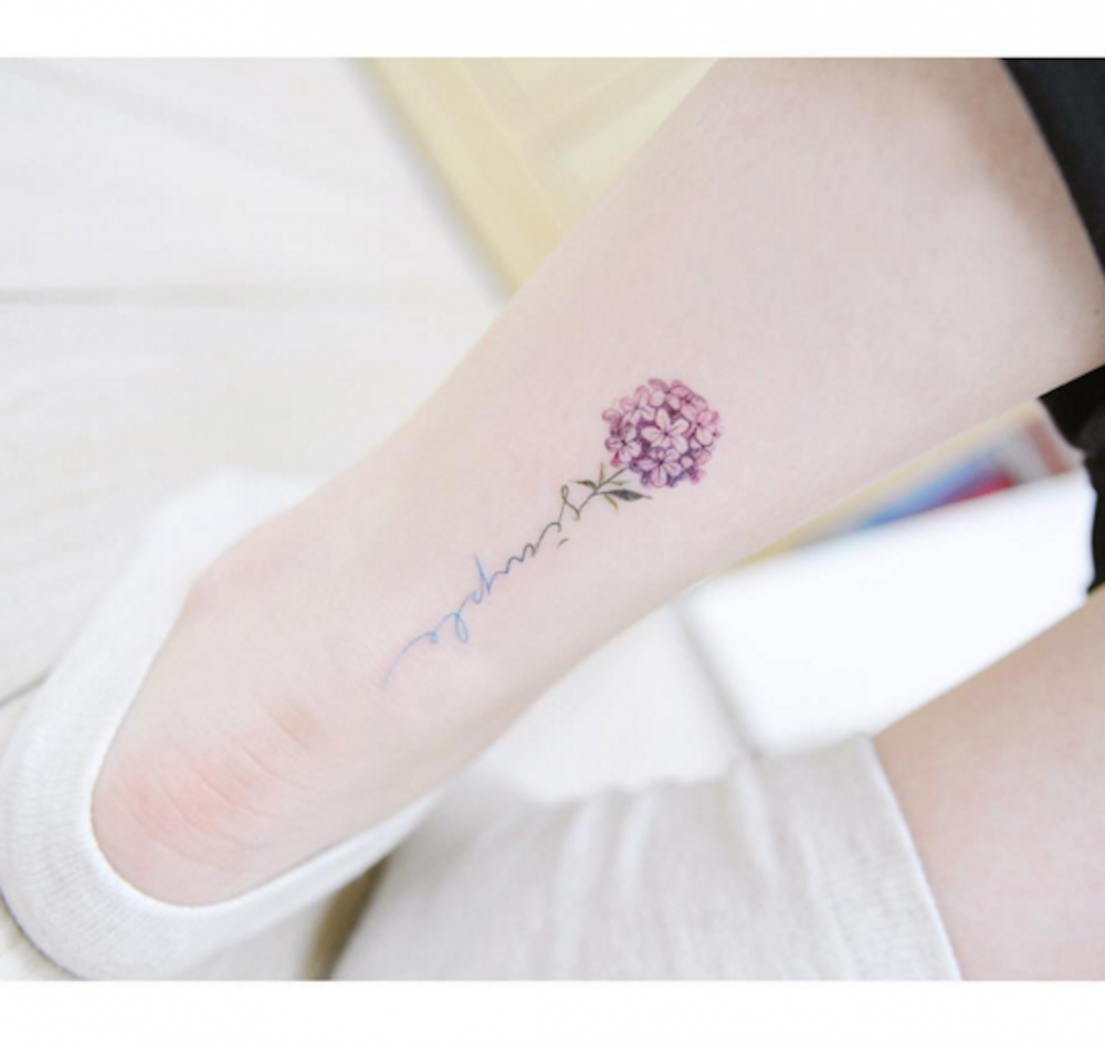 dfb43bc9c 14 Delicate Flower Tattoos That Aren't Naff | Fashion, Trends, Beauty Tips  & Celebrity Style Magazine | ELLE UK