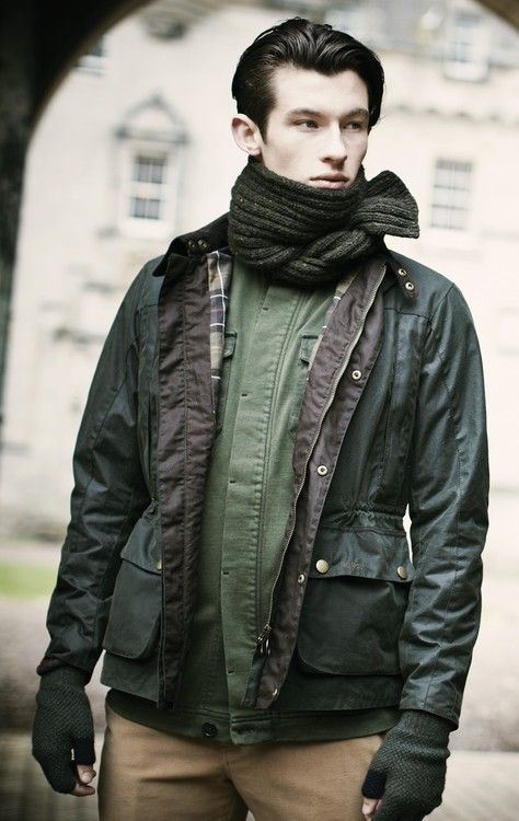 Barbour scarf.