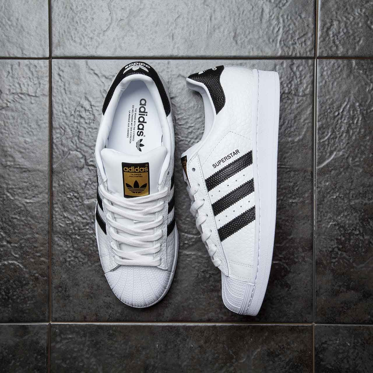 An adidas favourite, with a twist! The adidas Originals Superstar Animal Trainer in white & black.