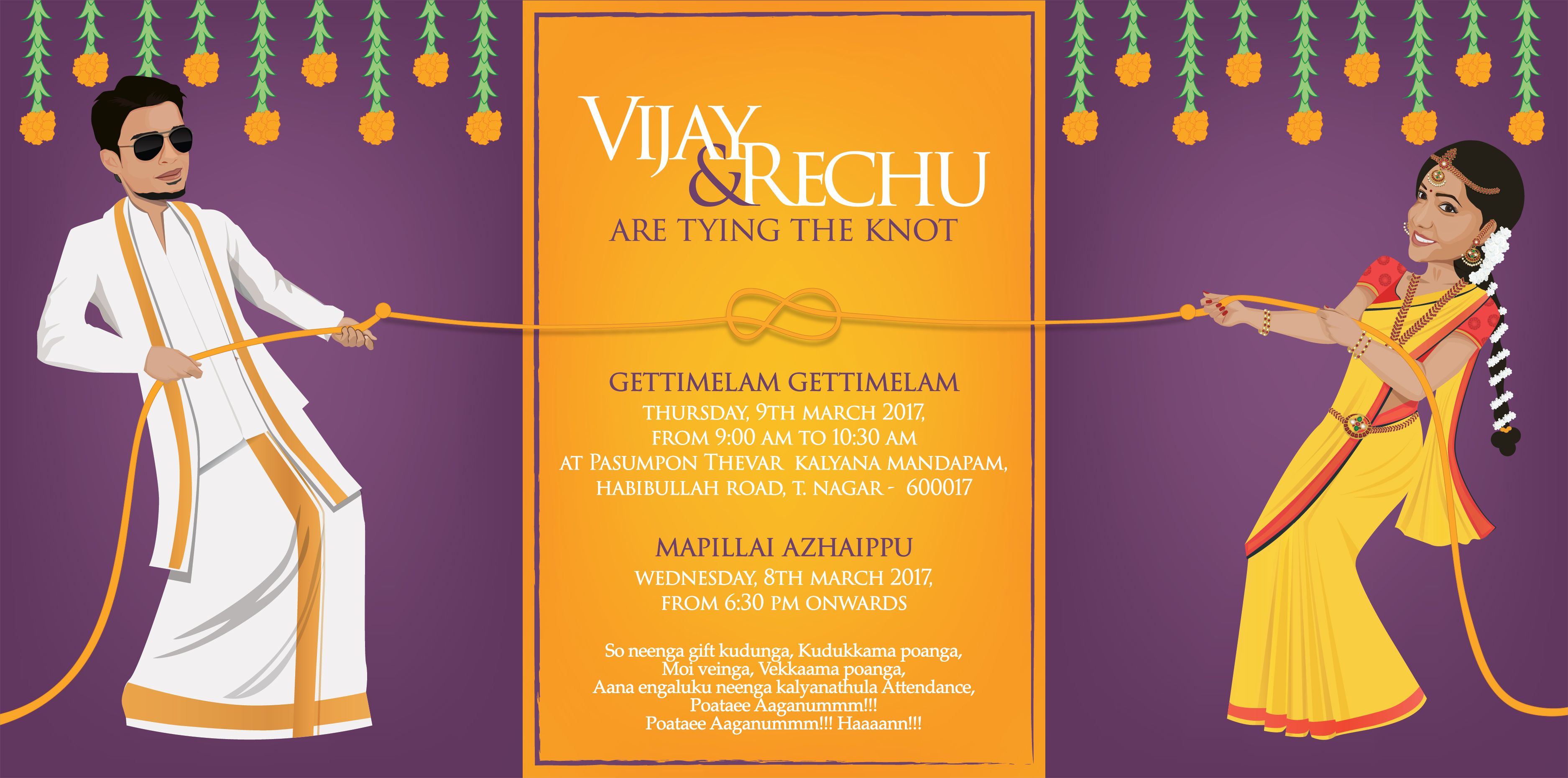 Tamil Quotes For Wedding Invitation: Wedding Card Design