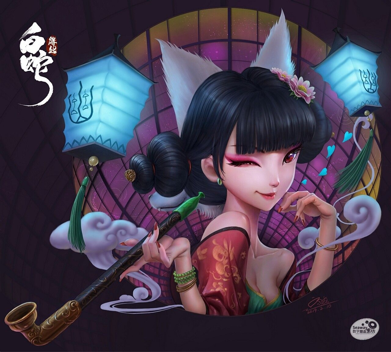 白蛇 缘起 同人插画 宝青坊主 双面狐妖 更新绘画视频 Seaway Liu On Artstation At Https Www Artstation Com Artwork O Chinese Art Girl Dungeons And Dragons Characters Snake Wallpaper