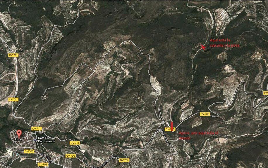Localización del Gorg del Salt en google maps