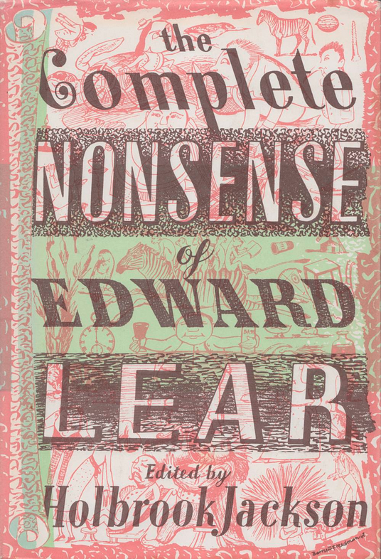 Cover of the Complete Nonsense of Edward Lear designed by Barnett Freedman