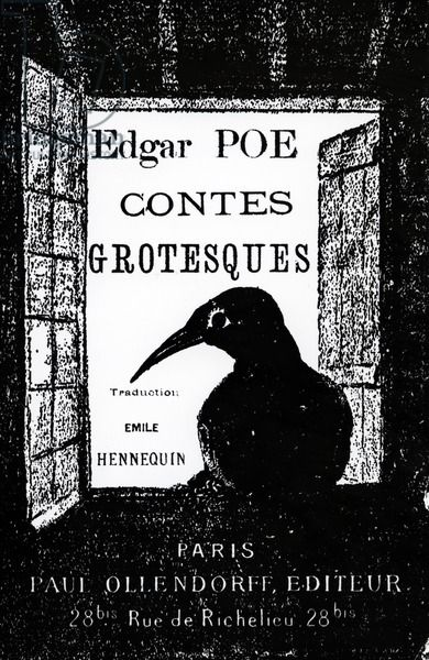 Cover to 'Contes Grotesques' by Edgar Allan Poe, published in 1882 (litho), French School, (19th century) / Private Collection / Bridgeman Images